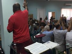 Teaching in a Sunday Church Congregation in the city of Azov, Russia. The People praying for each other #2 - 9.6.15