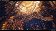 Congratulations to ACeye & Desmera for their winning entry in Allegorithmic's Throne Room environment contest! Fantasy Art Landscapes, Landscape Drawings, Fantasy Landscape, Fantasy Places, Fantasy World, Bg Design, Composition Art, Throne Room, Environment Concept Art