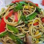 Chinese food- chow mein! Super easy!!