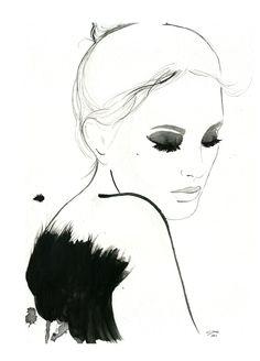 'Dark Ballerina' / illustration by Jessica Durrant.