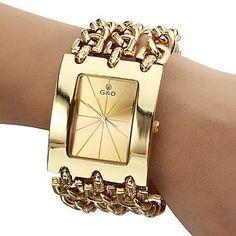 2016 GLE&VDO Fashion Party Horloges Vrouwen Bracelet Watch Quartz Men Women Unisex Dress Wristwatch Xmas Gift Free Ship