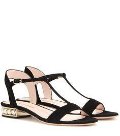 mytheresa.com - Casati embellished suede sandals - Luxury Fashion for Women / Designer clothing, shoes, bags