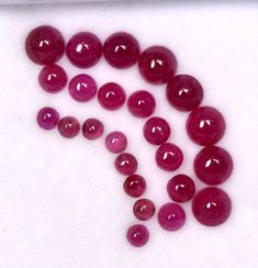 Natural Ruby Round Cabochon 2.25/3/4 mm Lot 24 Pcs Unheated Calibrated Loose Gemstones Natural Emerald, Natural Ruby, Semi Precious Gemstones, Loose Gemstones, Just Amazing, Red Color, Jewelry Sets, Shapes, Create