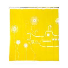 This makes us happy: Yellow Submarine Shower Curtain