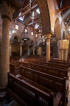 The Hanging Church, Cairo. Modern Egypt, Ancient Egypt History, Religion, Nile River, Old Churches, Egypt Today, Cairo Egypt, Place Of Worship, Egyptian Art
