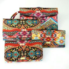 Eclectic print  wallets by @Priscilaklein