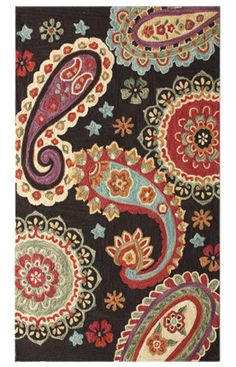 Radiante Paisley Brown Rug