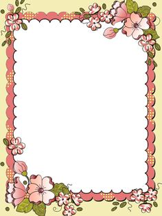 Frame Border Design, Boarder Designs, Page Borders Design, Flower Frame, Flower Art, Diy Crafts Paper Flowers, Shadi Card, Old Paper Background, Boarders And Frames