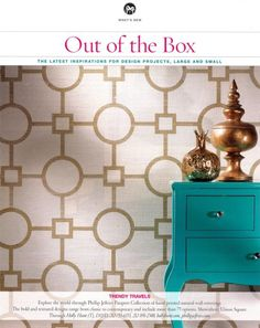 """In CT Cottages & Gardens' """"Out of the Box,"""" the vignette shot of Union Square 5671 Gold is featured as the latest inspirations for design projects, large and small."""