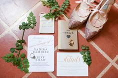 Boudoir Moderne by Allie Lindsey Photography Invitations were decorated in gold calligraphy.  Venue:  Coronado Community Center Event Coordinator: