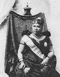 Liliʻuokalani (reigned 1891 to 1893), last queen of Hawaii before the monarchy was overthrown by a coalition of Americans and Europeans, leading to the end of the sovereign Kingdom of Hawaii and the annexation of Hawaii by the US