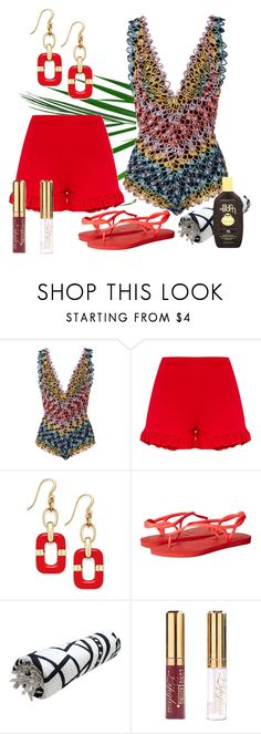 """One Piece contest"" by empathetic ❤ liked on Polyvore featuring Missoni Mare, Charter Club, Havaianas and Sun Bum"