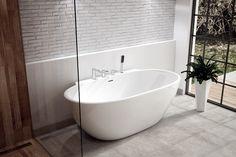 Wanna wolnostojąca Scandibath Mandal z rantem pod baterie Bathtub, Bathroom, Interiors, Design, Home Decor, Apartment Bathroom Design, Standing Bath, Washroom, Bathtubs