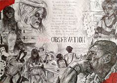 AS Level Art: Tonal Illustrations by DaintyStain on DeviantArt – A Level Art Sketchbook - Water A Level Art Sketchbook, Sketchbook Layout, Textiles Sketchbook, Sketchbook Ideas, Mind Map Art, Mind Maps, Artist Research Page, Art Alevel, Observational Drawing