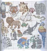 Schema punto croce Animali B