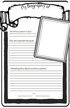 This is a simple biography report poster for your kiddos to use in the classroom. I made two sizes this kit is 11x17 sizeI teach 1st grade ...