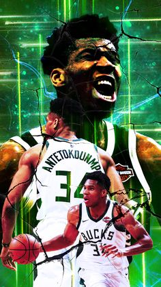 A wallpaper I made awhile ago to represent the MVP! Nba Pictures, Nba Wallpapers, Western Conference, Milwaukee Bucks, Nba Players, Nba Basketball, Michael Jordan, Greek, Graphics