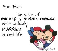 I knew this but it still makes me happy :) but the original voice of Mickey was Walt Disney though!