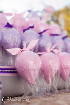 OOOOHH MAYBE WE CAN DO THIS!    Cotton Candy Favors :  wedding cotton candy candy bar cotton candy favors favors blue green orange pink purple red yellow diy reception Jenosullivan 20111016 0193 Web