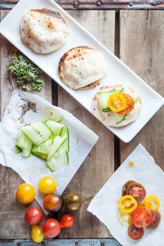 MadeByGirl: FOOD: Fresh Cucumber and Tomato Pizzettes
