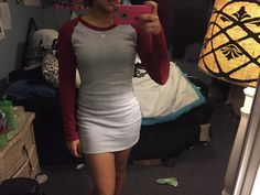 Kissky Women's Color Block Long Sleeve Bodycon Tshirt Dress: Amazon Fashion