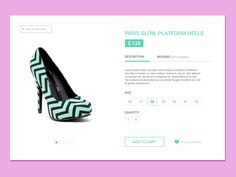 Product Page designed by Ivana Todorovski. Connect with them on Dribbble; Page Design, Ui Design, Ecommerce Web Design, Daily Ui, Ui Elements, Product Page, Ui Ux, Challenge, User Interface Design
