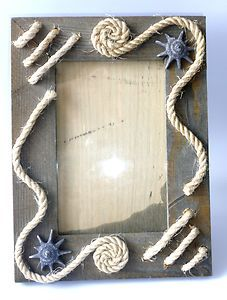 Wooden picture frame decorated handmade  15 * 20 cm table stand