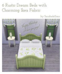 Rustic Dream bed recolors at Saudade Sims via Sims 4 Updates