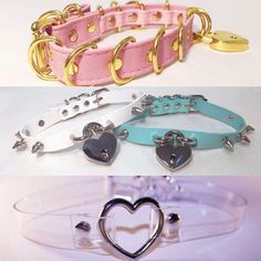 Some of our staple choker collars keeping it #KawaiiKink at babyvoodoo.com  #babyvoodoo  #kawaii #pink #aesthetic #choker #lolita #punk #rave #collar #kawaiifashion #petplay #bdsmcommunity ##cutekink