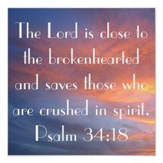 bible verse Psalm 34:18 sunset Print