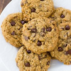 The Best Gluten-Free Oatmeal Chocolate Chip Cookies (Meaningful Eats) Almond Butter Cookies, Gluten Free Chocolate Chip Cookies, Oatmeal Chocolate Chip Cookies, Gluten Free Cookies, Oatmeal Scotchies, Peanut Butter, Gluten Free Treats, Gluten Free Desserts, Gluten Free Oatmeal