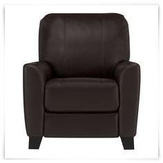fallon dk brown lthr/vinyl recliner