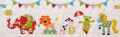 Animal circus applique quilt patterns. by claireturpindesign