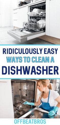 How To Clean A Dishwasher! Try this easy cleaning hack to deep clean your dishwasher without having to scrub! Safe Cleaning Products, Household Cleaning Tips, Deep Cleaning, Spring Cleaning, Cleaning Hacks, Cleaning Your Dishwasher, Toilet Brushes And Holders, Clean Phone, Diy