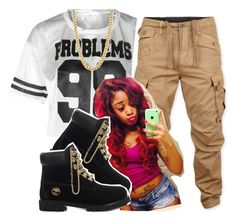 """""""Rich Gang !! Blat !"""" by trill-princess-thug ❤ liked on Polyvore featuring G-Star Raw, Trippen and Timberland"""