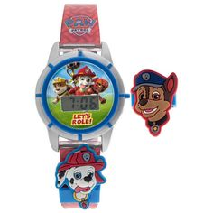 """Paw Patrol LCD Digital Watch with Interchangeable Sliders - Berger M Z & Company - Toys """"R"""" Us"""