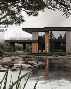Modern Exterior House Designs, Modern Architecture House, Modern House Design, Exterior Design, Architecture Design, Modern House Facades, Dream House Interior, Luxury Homes Dream Houses, Dream Home Design