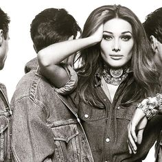 Carla Bruni  for Gianni Versace 1992                                                                                                                                                                                 More