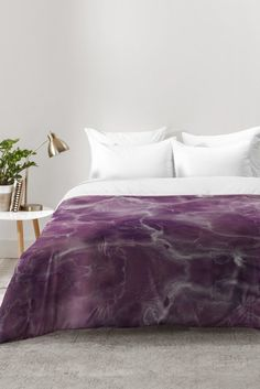 Chelsea Victoria Amethyst Marble Comforter | DENY Designs Home Accessories