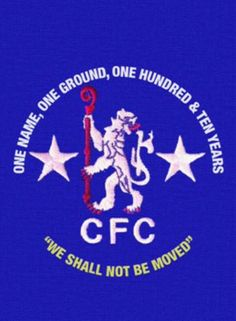 We shall not be moved cfc Chelsea FC Chelsea Blue, Chelsea Fc, Chelsea Football, Football Team, Soccer Images, Fc 1, Stamford Bridge, Great Team, Club