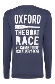 Our long sleved navy rowing t-shirt has the University of Oxford crest on the front and an rowing motif printed on the back. Perfect for race day!