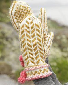 Patron de tricot pour tricoter une paire de moufles - Marie Claire Idées