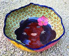 A bowl by Bahamian ceramicist Vincent McWeeny
