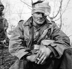 Injured Australian soldier Bomber Brown.