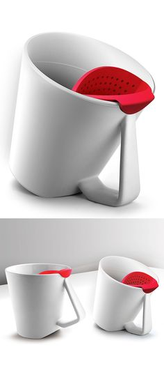 Tilting Mug - Adjust the placement of the silicone infuser and tea steeps from light to deep flavor.