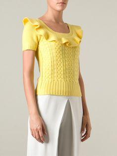 Valentino Cable Knit Sweater - Tiziana Fausti - Farfetch.com