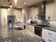 White Kitchen Cabinetry Bradford / White / Shaker Doors Learn More: Builder Preferred Cabinetry Serving Wichita/Metro, KS White Kitchen Cabinets, Kitchen Cabinetry, Shaker Doors, Counter Top, Bradford, Kitchen Remodel, Kitchens, Design, Home Decor