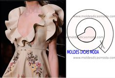 Hoje vou abordar alguns detalhes de modelagem e design de moda, de modo a facili… Today I will cover some details of modeling and fashion design, in order to facilitate the reading and interpretation of image models. High Street Fashion, Dress Sewing Patterns, Clothing Patterns, Spring Fashion Trends, Fashion Tips, Fashion Details, Costura Fashion, Fifties Fashion, Collar Pattern