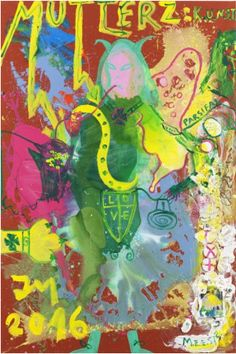 """DAS GNADENLOSESTE ""K.U.N.S.T."" SHOWS NO MERCY."" By Jonathan Meese #art #abstract #color #mercy To see more of Jonathan's work, visit his profile on Liivee.com!"
