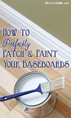 How to Perfectly Patch and Paint Your Baseboards
